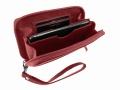 Handyzippbörse mit Griffschlaufe   <br>KALBLEDER - weich!
