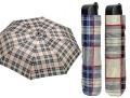 Regenschirm Mini 54/8 braun kariert   <br>Selbstfalter